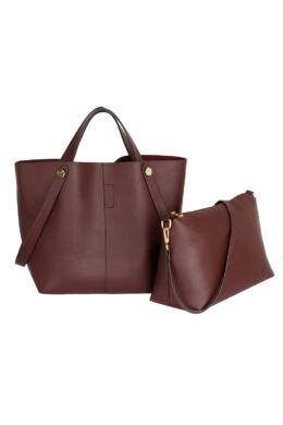 Adél bevásárló táska - Burgundi