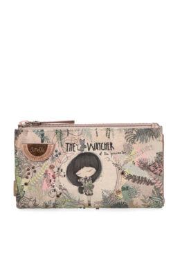 Anekke Jungle pénztárca patentos, cipzáras, 17,5x2x10cm