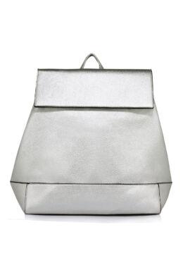 Patentzáras iskolatáska jellegű hátizsák-Ezüst