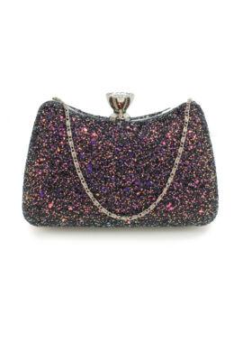 Sharon estélyi táska-holografikus fekete