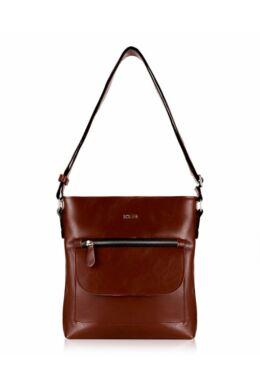 Solier FL20 női bőr válltáska- vintage barna