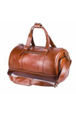 Solier SL19 valódi bőr utazótáska- vintage barna