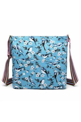 Brenda L1104-16J madármintás oldaltáska-kék