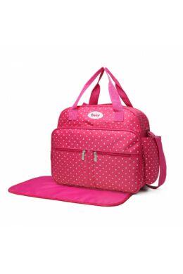 Baby pöttyös pelenkázó táska-pink