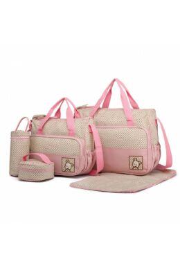 Pelenkázó táskakészlet 5 db-os-pink