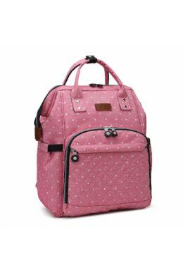 KONO baba-mama pöttyös hátitáska-pink
