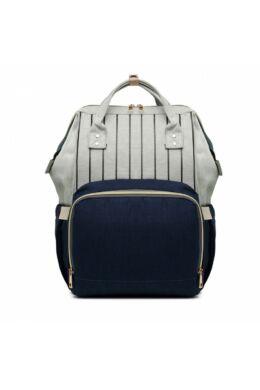 Több funkciós pelenkázó táska-kék