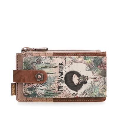 Anekke Jungle basic pénztárca patentos, cipzáras, kártyatartós, 15,2x1x8,2cm
