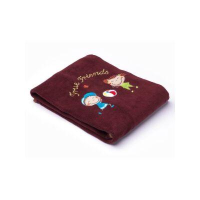 Sensillo gyermekpléd - gyermek mintával 75x100 cm -barna