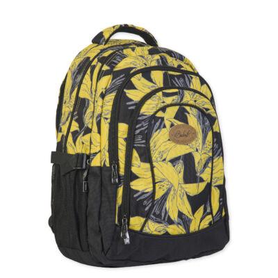 Budmil nagy Hátitáska fekete sárga virágos