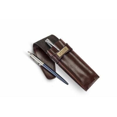 SA12 Bőr férfi tolltartó  mélyvörös