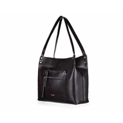 Solier FL18 elegáns női bőr válltáska- fekete