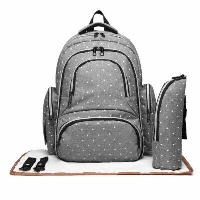 hátizsák pelenkázó alátéttel és termosz táskával