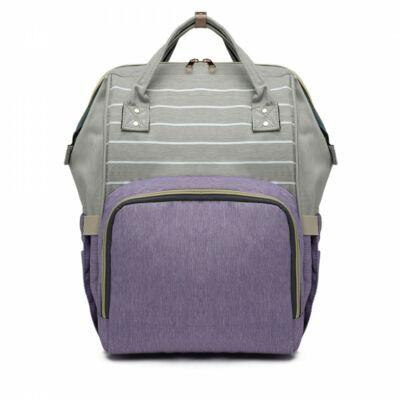 praktikus nagy baba-mama táska, divatos kék pelenkázó táska