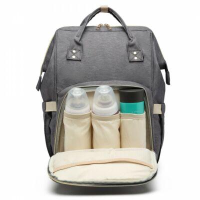 Több funkciós pelenkázó táska-szürke