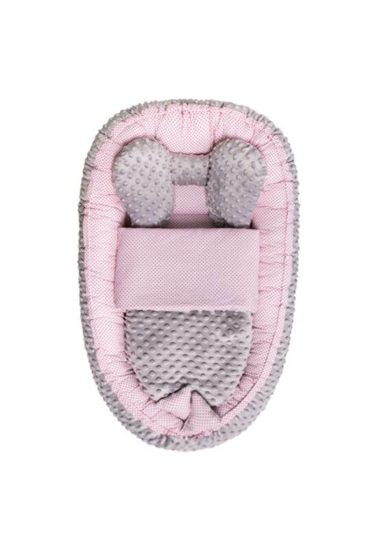 Babafészek paplannak Sweet baby Belisima- rózsaszín