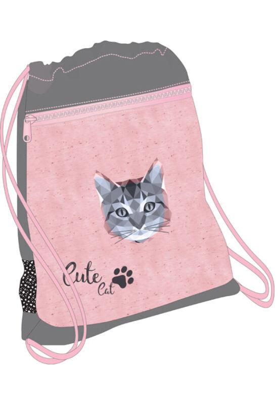 Belmil hálós és zsebes tornazsák Cute Cat