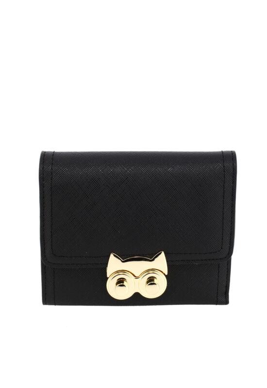 AG Női pénztárca baglyos csattal-fekete