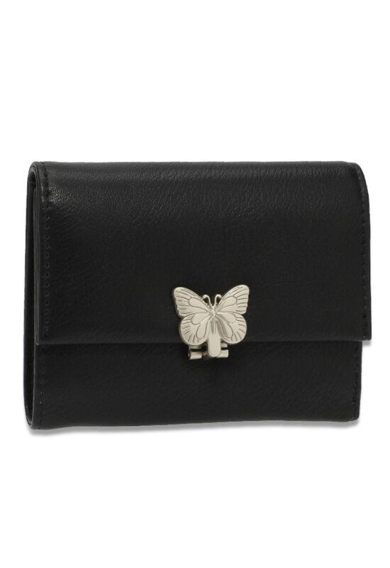 AG női pénztárca pillangós csattal-fekete