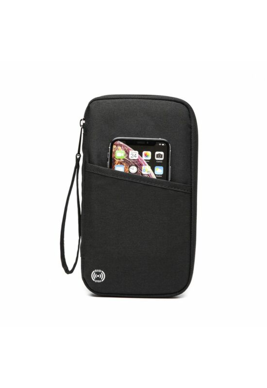 RFID blokkoló pénztárca-fekete