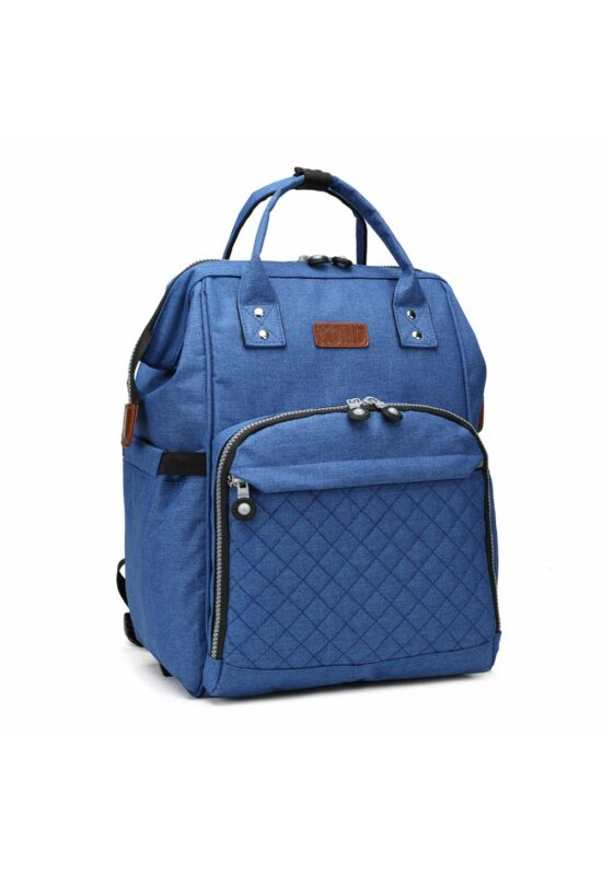 KONO baba-mama modern hátitáska-kék