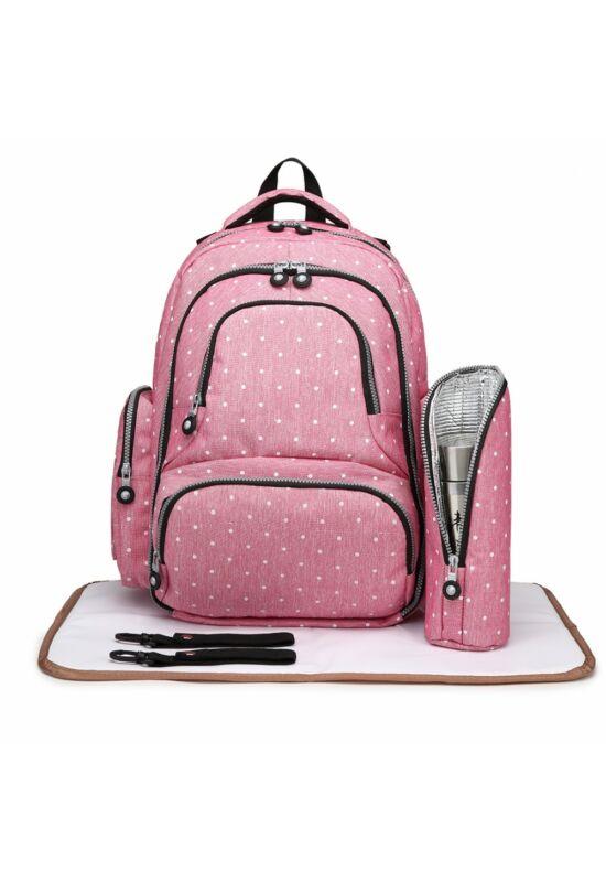 Pelenkázó hátizsák alátéttel és termosz táskával