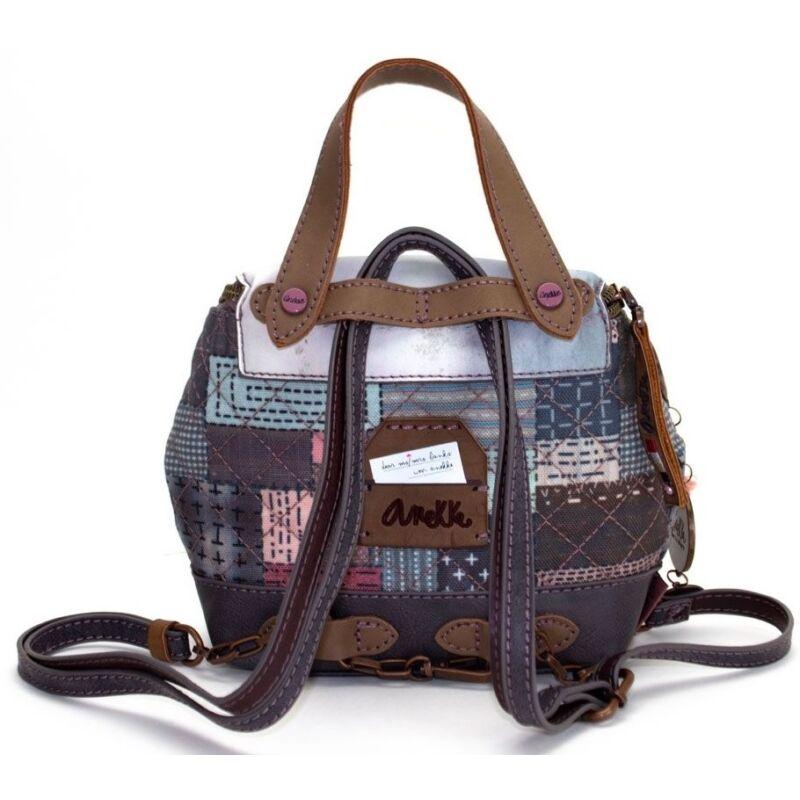 Miss Anekke mini, modern hátizsák, cipzáras, felnőtt, 16x10x16cm