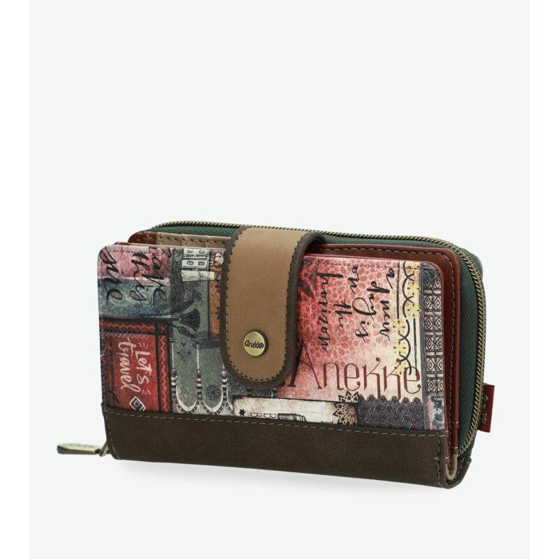 Anekke Egypt patentos-cipzáras pénztárca 15x2,5x9,5cm