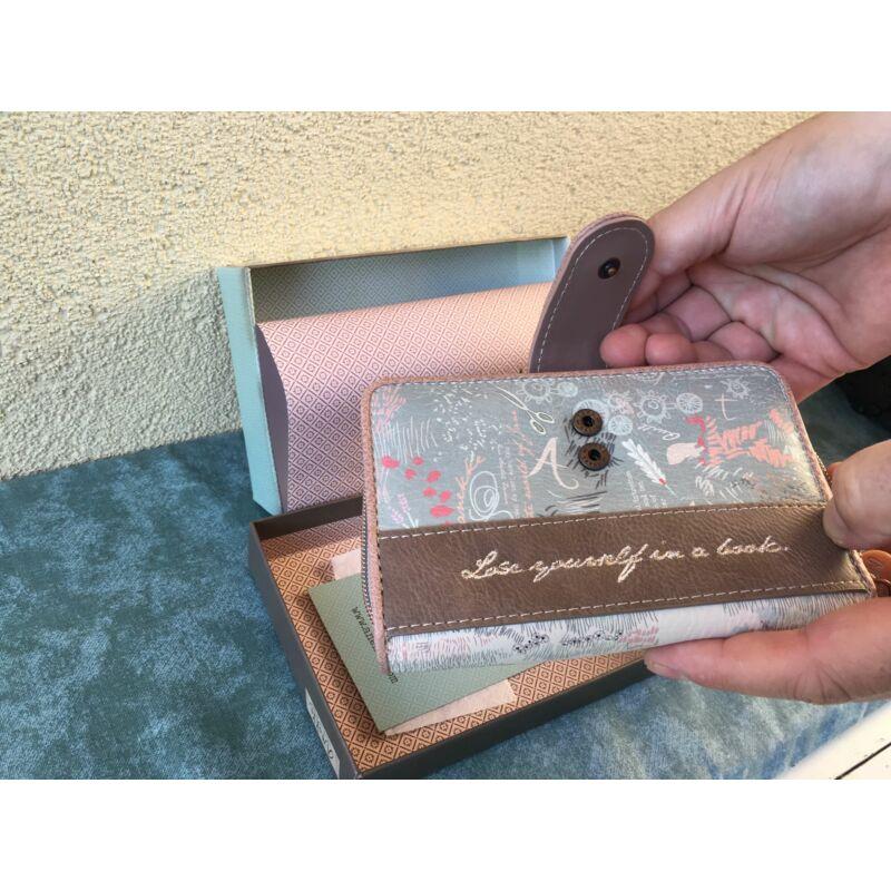 Anekke patentos-cipzáras pénztárca közepes Jane