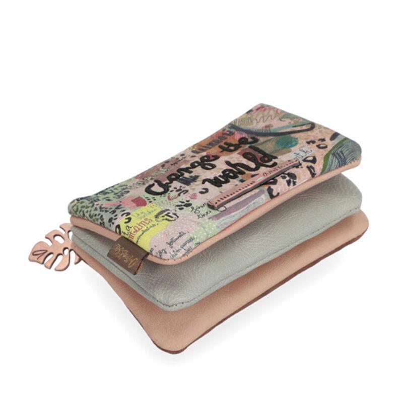 Anekke Jungle pénztárca felnőtt cipzáras, 11,5x2,5x7cm