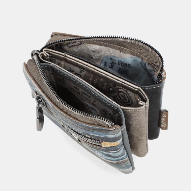 Anekke Iceland-pénztárca Háromrekeszes 11x7x1 cm 33709-010-7