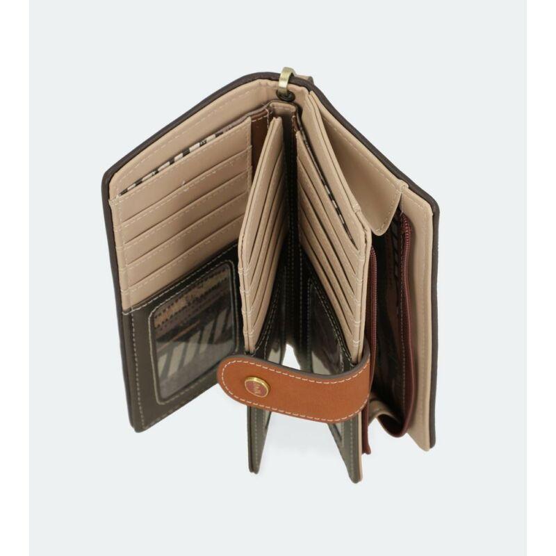 Anekke Kenya Pénztárca Cipzáras Patentos 18,5x10x2,5 cm