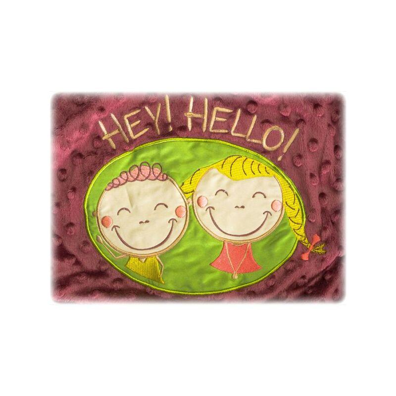 Kétoldalas gyerek pléd Sensillo Hey Hello 75x100 cm