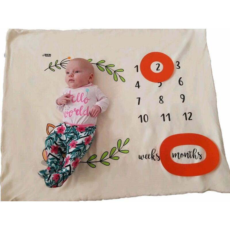 Multifunkciós gyerekpléd New Baby- krémszínű