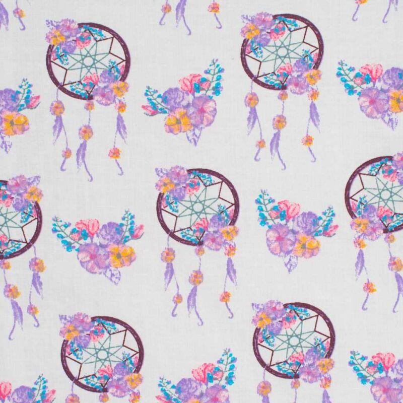 Kétoldalas álomfogó mintás együttes babakocsiba - szürke