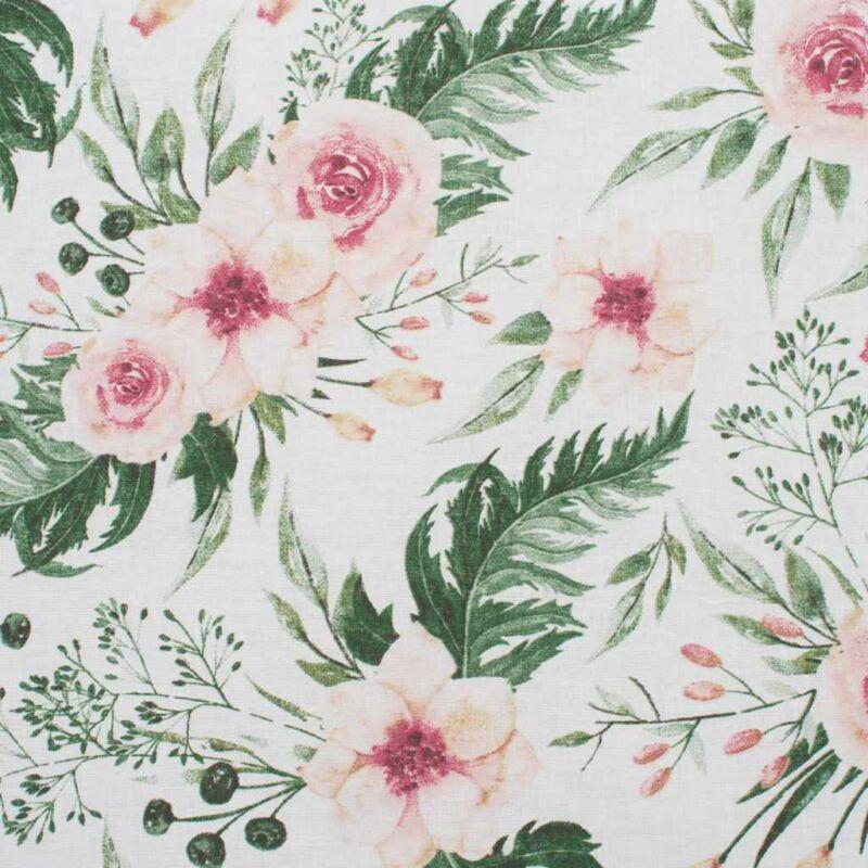 Kétoldalas virág mintás együttes babakocsiba - rózsaszín