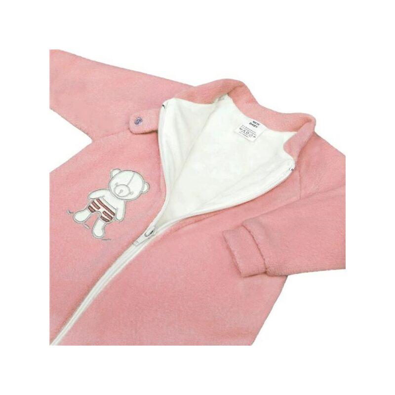 Baba frottír hálózsák maci mintával- rózsaszín 74 (6-9h)