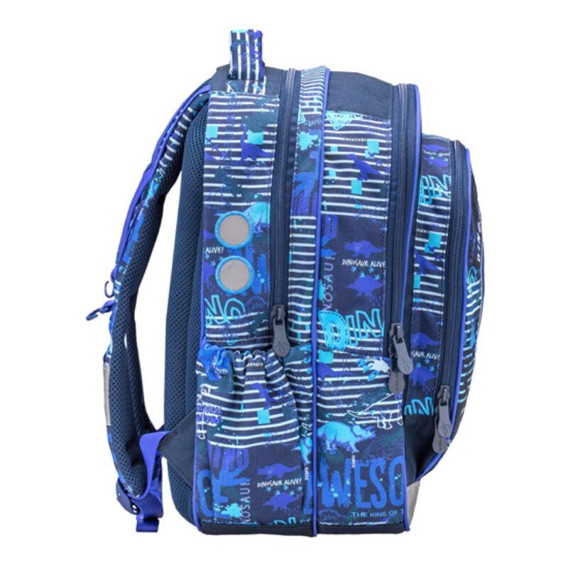 Speedy BLUE DINO merev falú iskolatáska  338-35