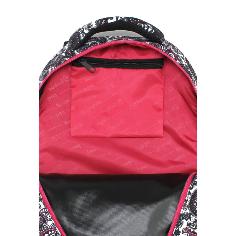 Budmil Hátitáska ovális fekete-pink-4