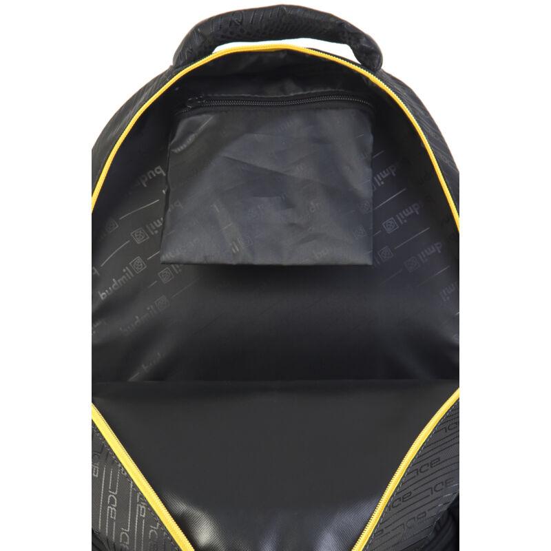 Budmil Hátitáska ovális fekete-sárga-3