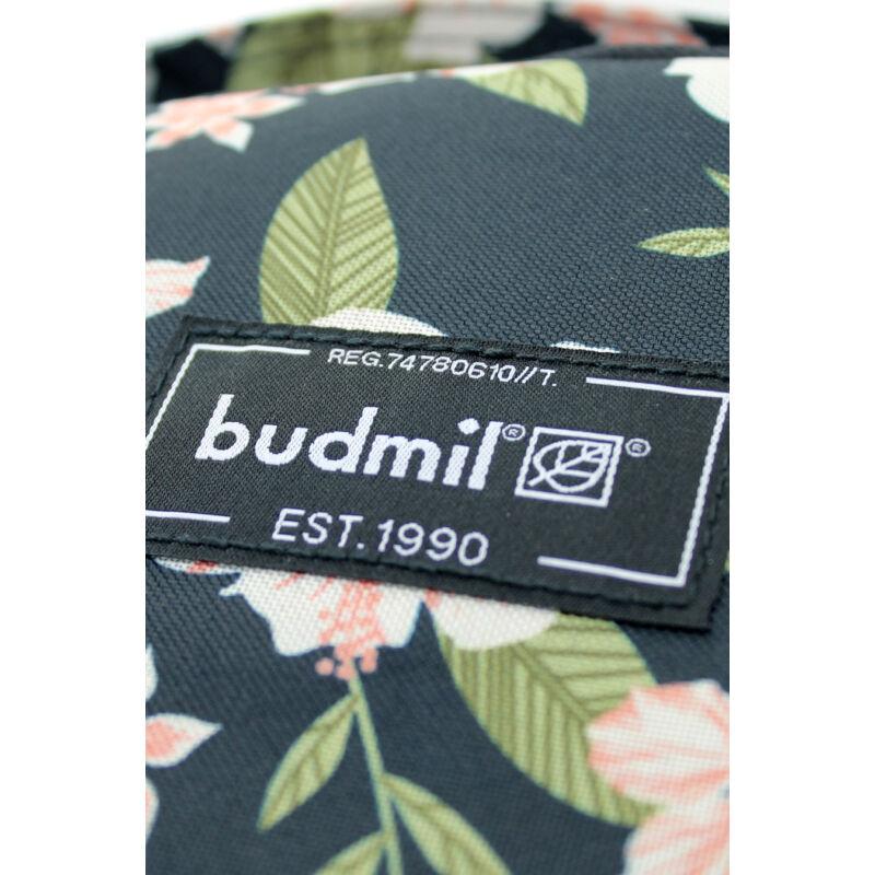 Budmil Hátitáska ovális fekete-r.virágos-3