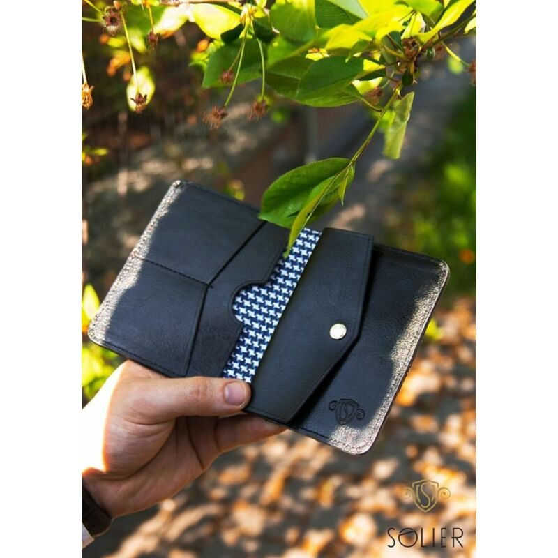 Solier SW16A SLIM férfi bőr pénztárca -fekete