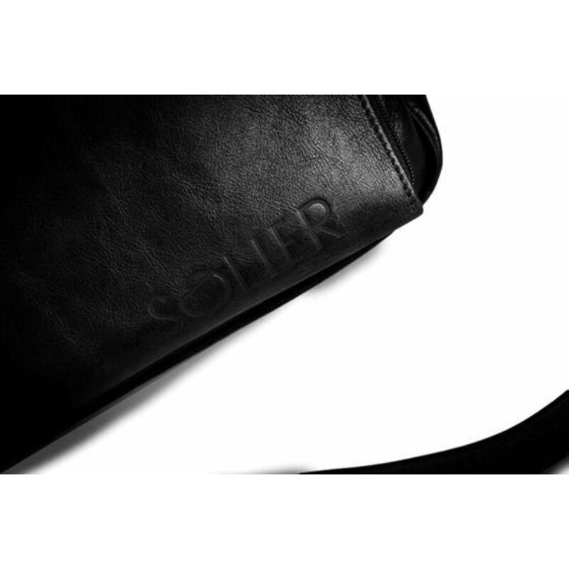 Solier Rothen SL30  fekete bőr válltáska