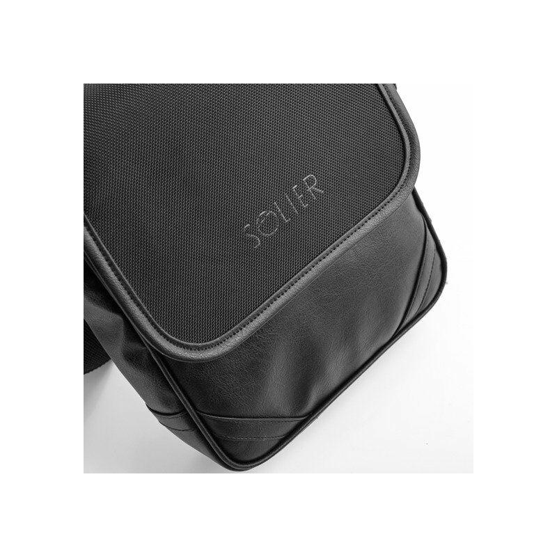 Solier S07 kis válltáska iPad-hez - fekete