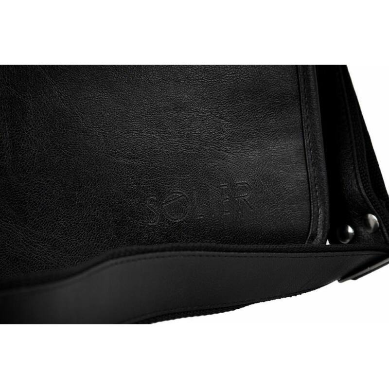 Solier S13 férfi válltáska- fekete