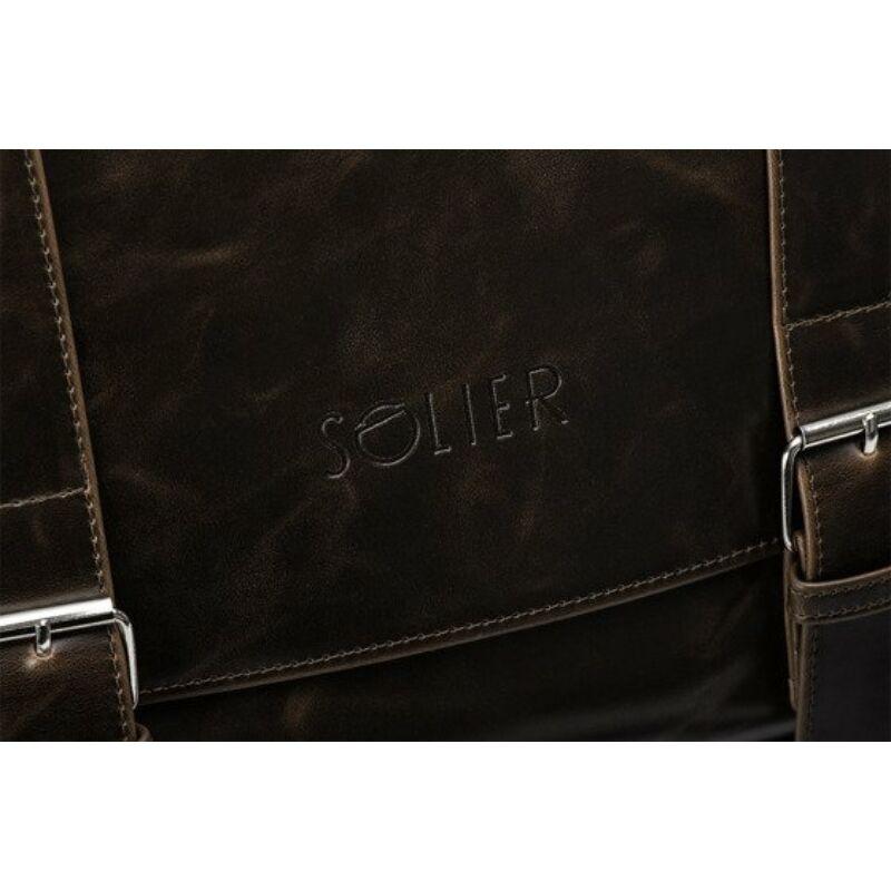 Solier S25 férfi válltáska -barna