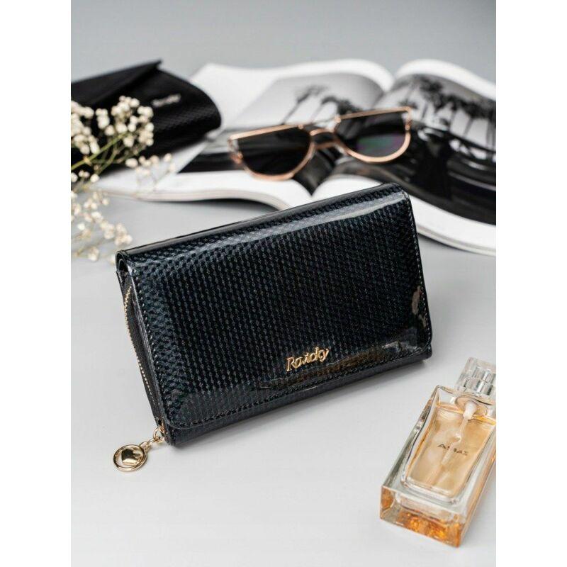Solier SBR8806 elegáns RFID  női pénztárca -fekete-1