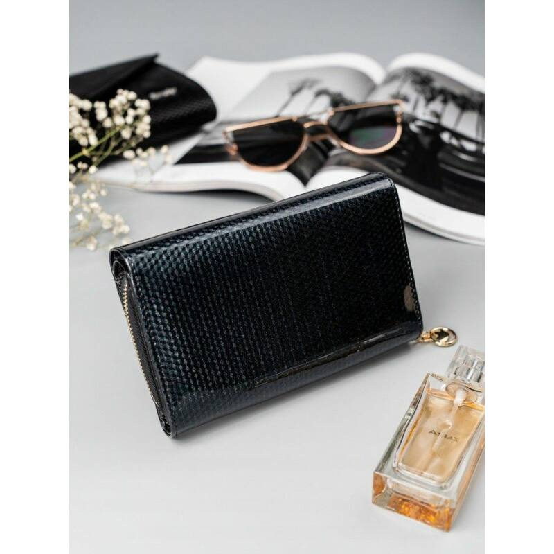 Solier SBR8806 elegáns RFID  női pénztárca -fekete-2