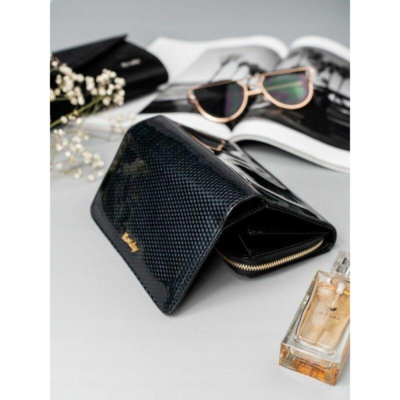 Solier SBR8806 elegáns RFID  női pénztárca -fekete-4