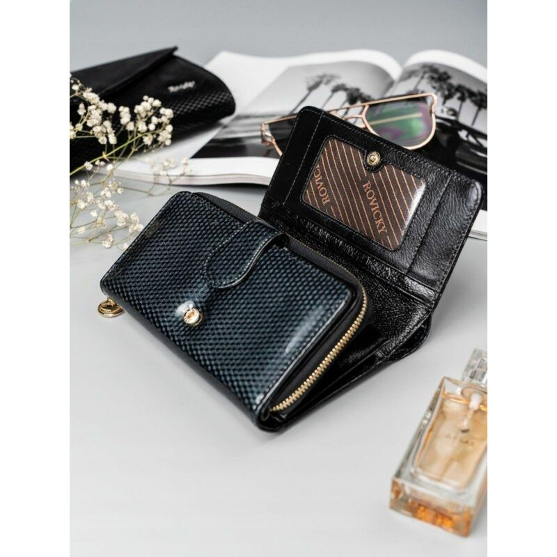 Solier SBR8806 elegáns RFID  női pénztárca -fekete-5
